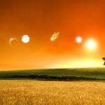 Много Солнц и комета