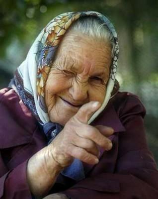 старая худая бабушка видео