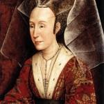 Платье, бусы и головной убор 15 века